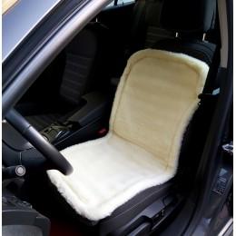 Накидка чехол на сидения автомобиля из овчины Sheepskin (Эко-шерсть) Универсальный защитный авточехол с окантовкой 1 шт Желтый