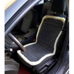 Накидка чехол на сидения автомобиля из овчины Sheepskin (Эко-шерсть) Универсальный защитный авточехол с окантовкой 1 шт Серый