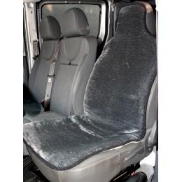 Накидка чехол на сидения автомобиля из овчины Sheepskin (Эко-шерсть) Универсальный защитный авточехол 1 шт Серый