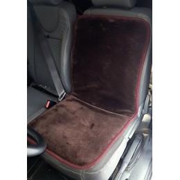 Универсальный защитный авточехол Sheepskin Накидка чехол на сидения автомобиля из Овчины (Эко-шерсть) 1 шт Коричневый