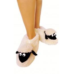 Меховые домашние тапочки  (Эко-мех) Sheepskin Овечки Размер 34-35 (20-21 см)