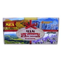 Подарочный набор вкусного чая 4 сезона Натуральный Карпатский травяной фиточай