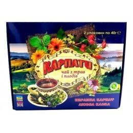 Натуральный травяной фиточай из Карпатских трав и плодов Подарочный набор травяного целебного чая