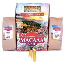 Натуральный травяной Карпатский чай МАСАЛА со специями и медом Подарочный набор полезного чая из трав