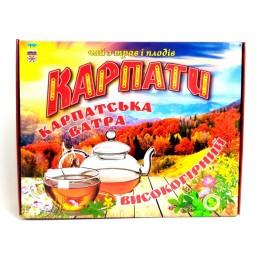 Натуральный травяной фиточай из Карпатских трав и плодов Подарочный набор высокогорного травяного чая