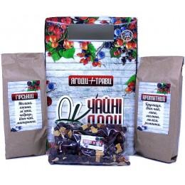 Натуральный травяной фиточай из Карпатских трав и плодов Подарочный набор высокогорного чая с ягодами